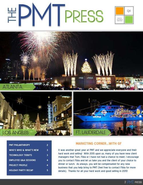 PMT Press - Q4 2014