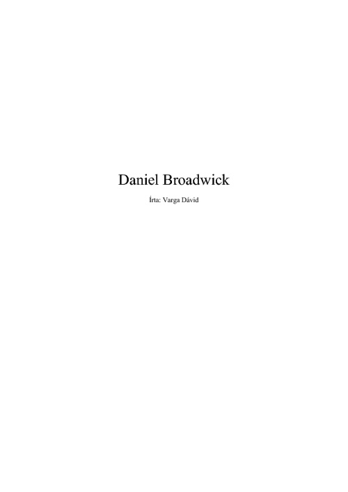 Daniel Broadwick
