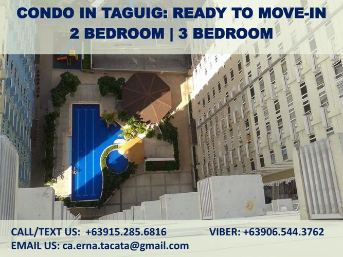 CONDO IN TAGUIG READY TO MOVEIN