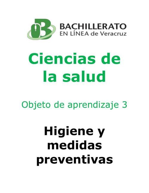 Higiene y medidas de prevención