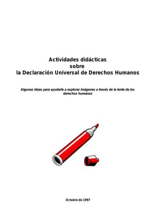 actividades declaración derechos humanos