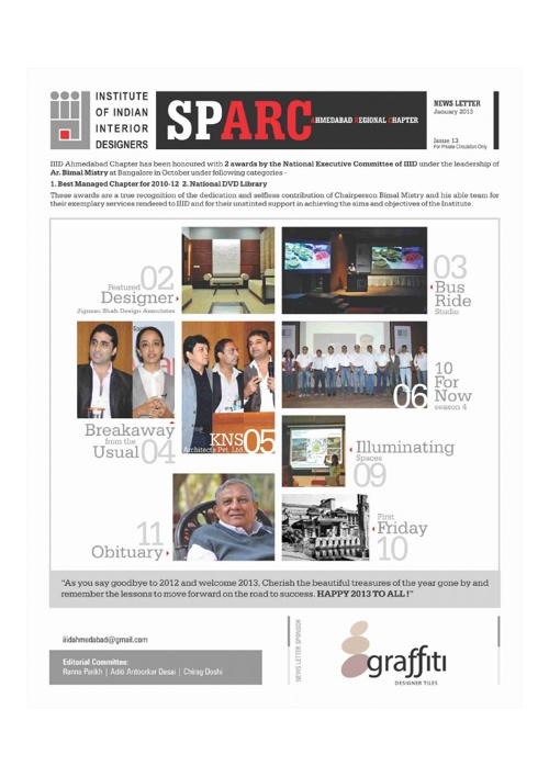 IIID - SPARC newsletter - issue 13 - 2013