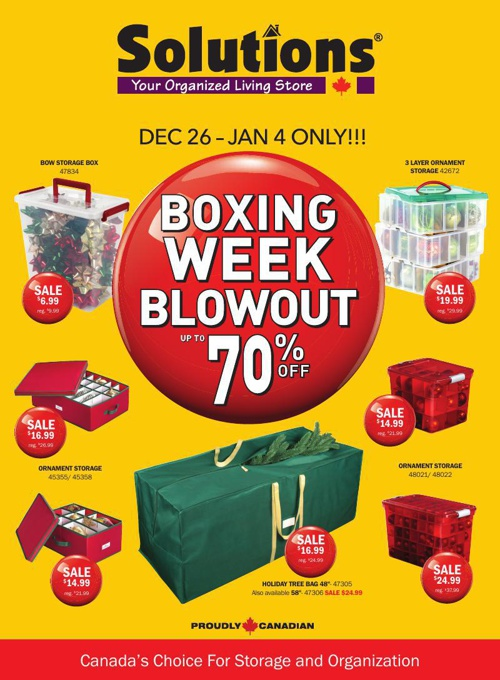 Solutions Boxing Week Flyer 2014