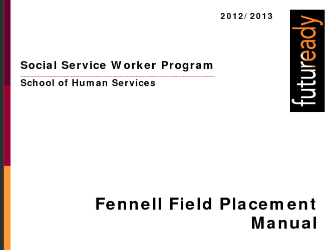 Field Placement Manual
