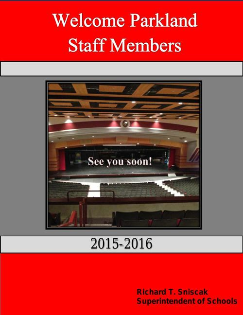 Welcome Back Letter to Staff 2015-2016