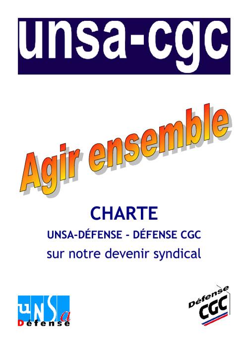 Charte UNSA CGC DEFENSE