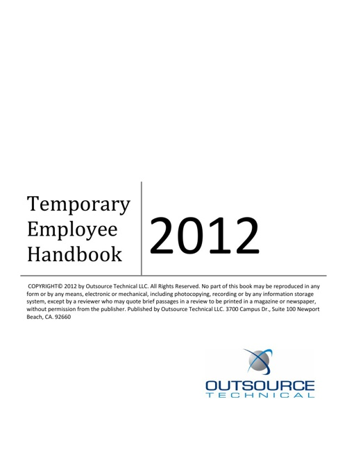 Temporary Employee Handbook