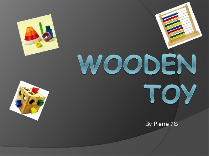 wooden toy investigation and design
