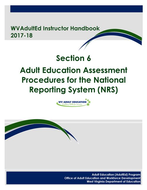 WVAdultEd Instructor Handbook 2015 - 2016 Section 6