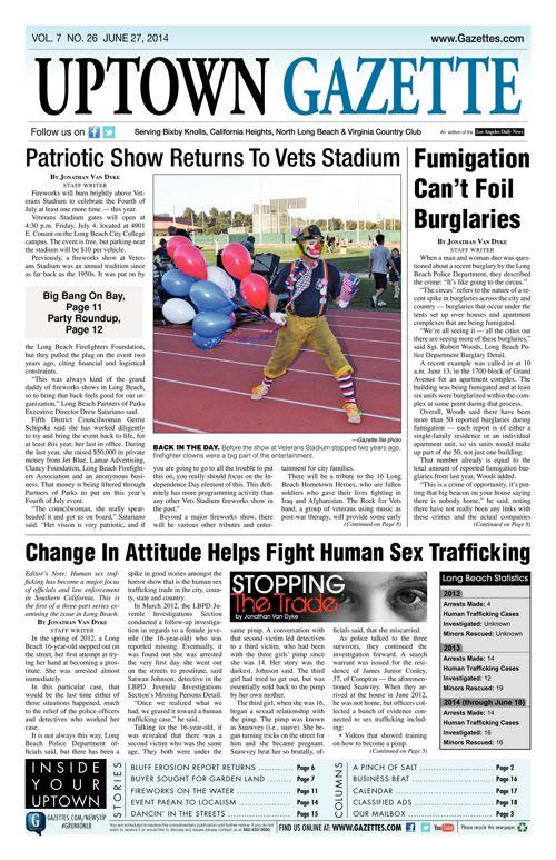 Uptown Gazette     June 27, 2014