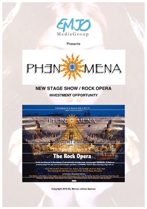 Phenomena Project Rock Opera