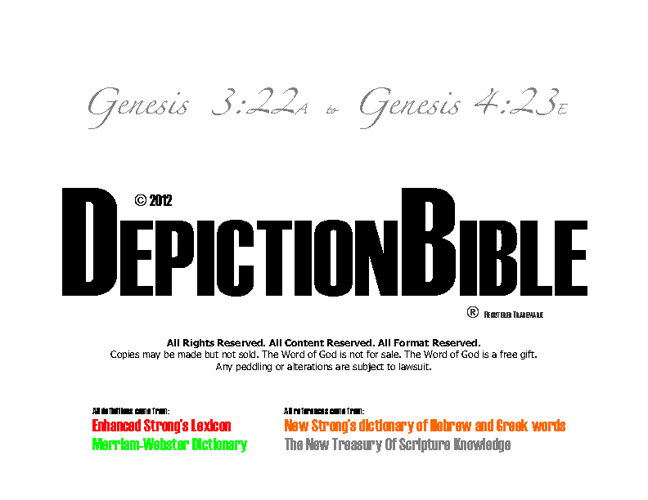 DepictionReaders.org Depiction Bible