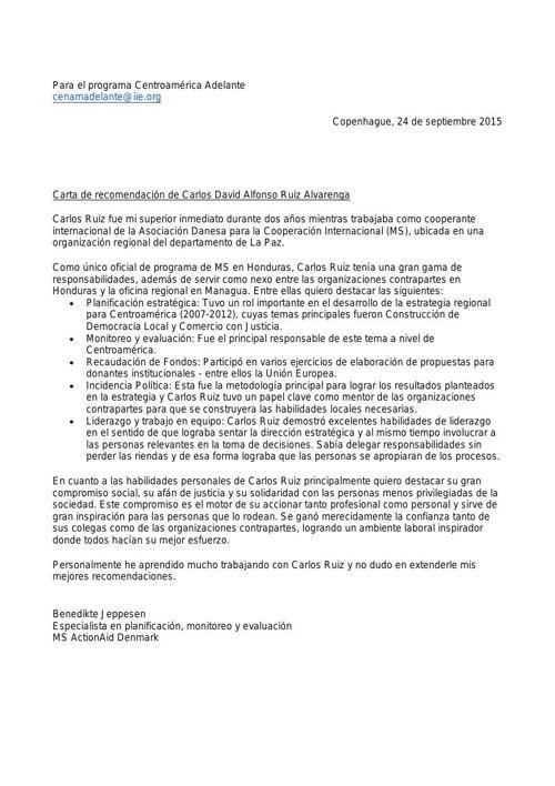 Recomendación Carlos Ruiz