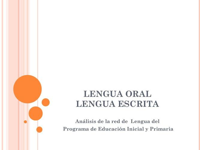 red conceptual de Lengua