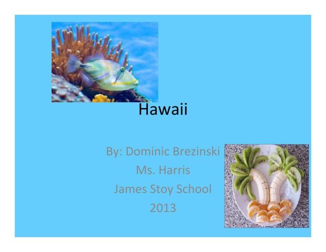 Hawaii by Dominic