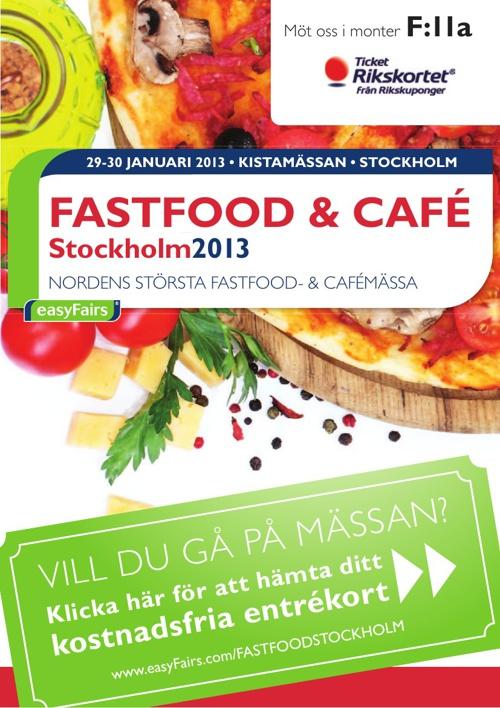 E-biljett FASTFOOD & CAFÉ Stockholm 2013 - Ticket