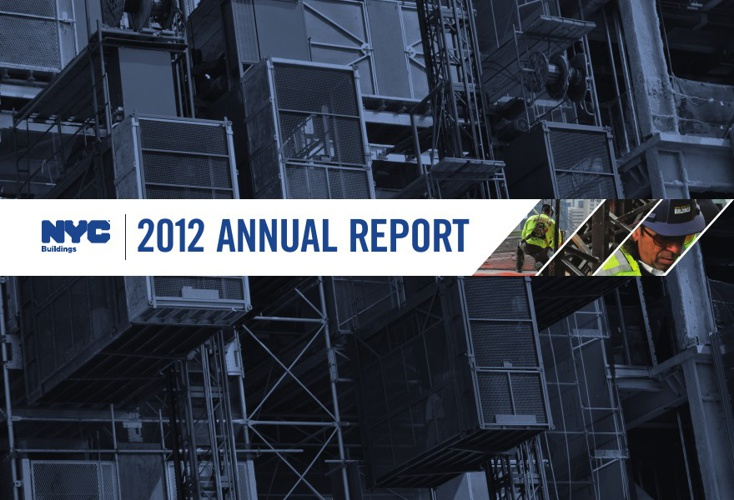 NYC Department of Buildings 2012 Annual Report.