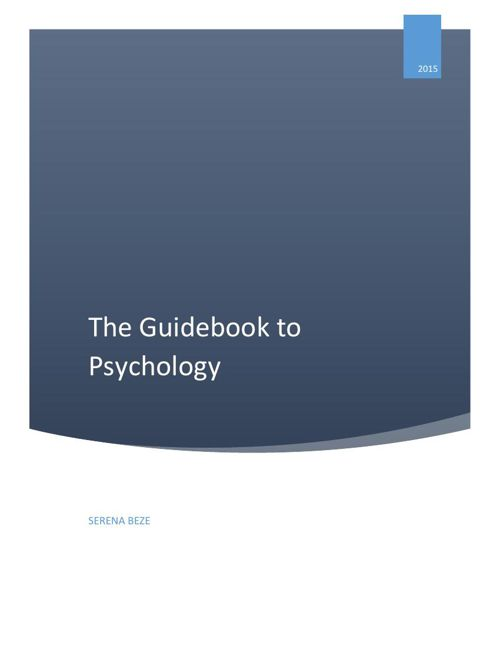 Guidebook to Psychology
