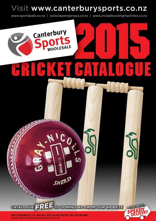 Canterbury Sports 2015 Cricket Catalogue