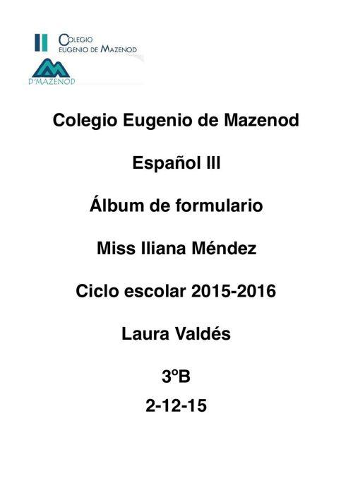album de formulario Laura Valdés