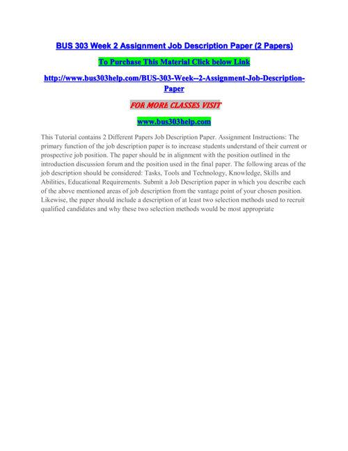 BUS 303 HELP Innovative Education / bus303help.com