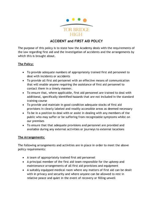 Tor Bridge High Policy Documents