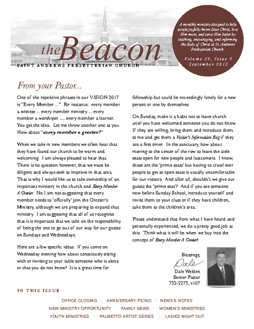 September 2012 Beacon