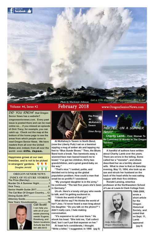 Oregon Senior News February 2018 E-edition