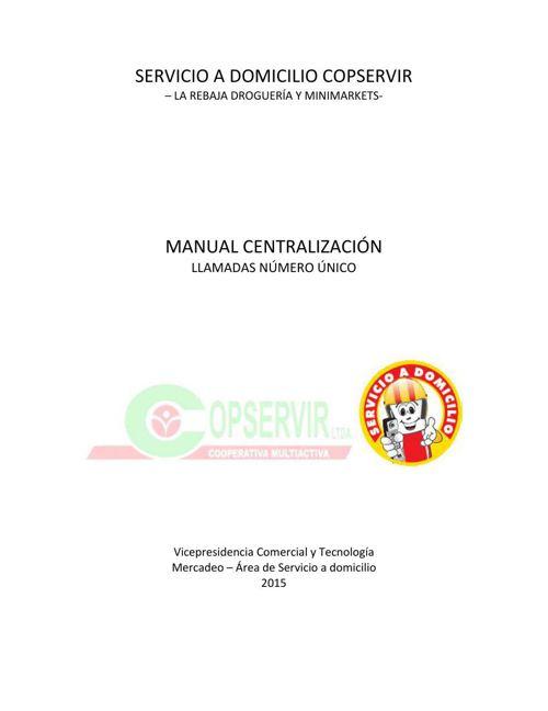 Manual Centralización de Llamadas Número Único