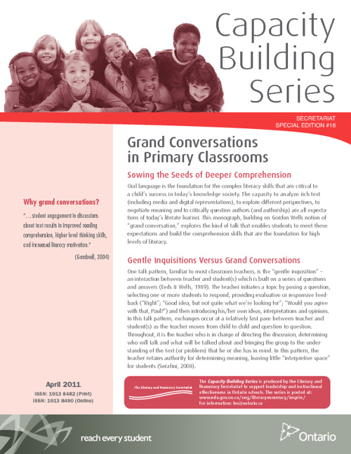 Grand Conversations in Primary Classrooms