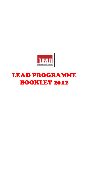 LEAD Booklet 2012
