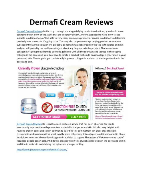 Dermafi Cream Reviews
