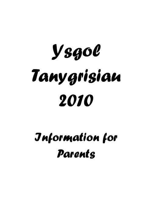 Ysgol Tanygrisiau - Handbook 2016-2017
