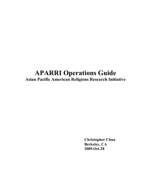 APARRI Operations Guide