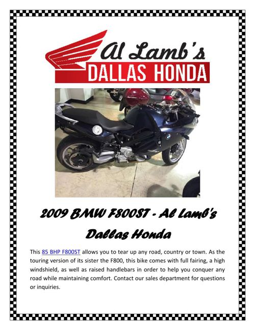 2009 BMW F800ST - Al Lamb's Dallas Honda