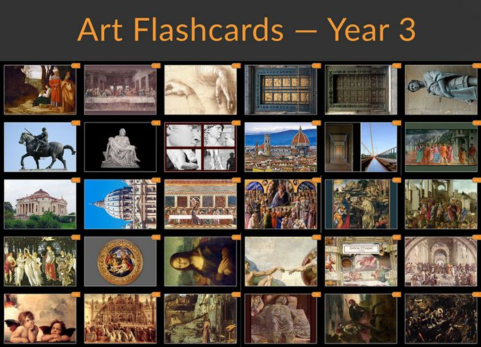 Year Specific Flashcard Sample - Year 3 Art