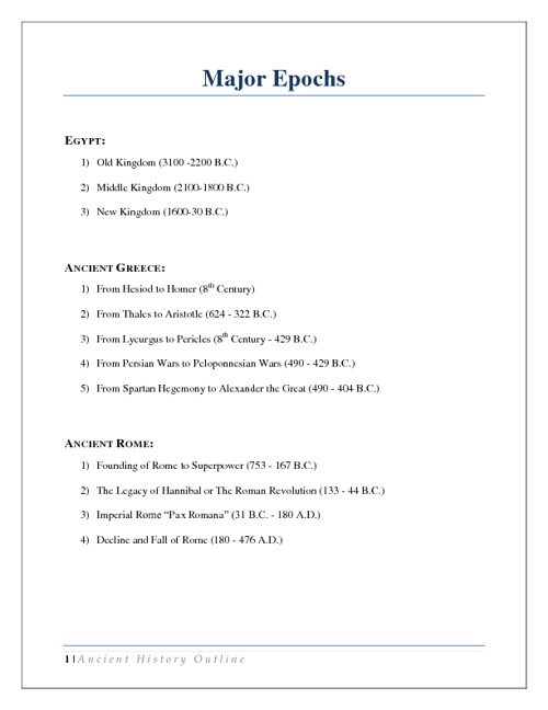 Church History Outline