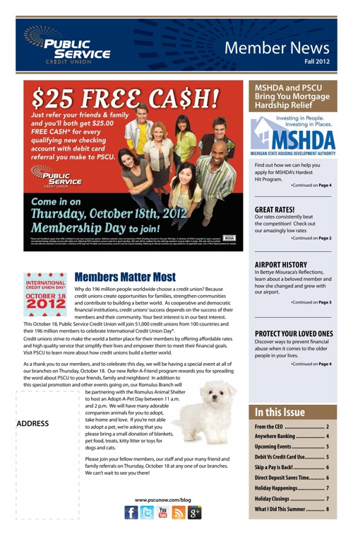 PSCU 2012 Fall Newsletter