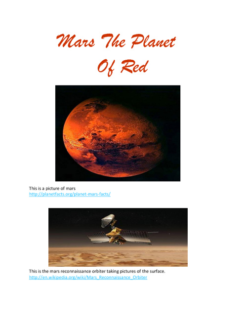 Mars The Planet Of Red