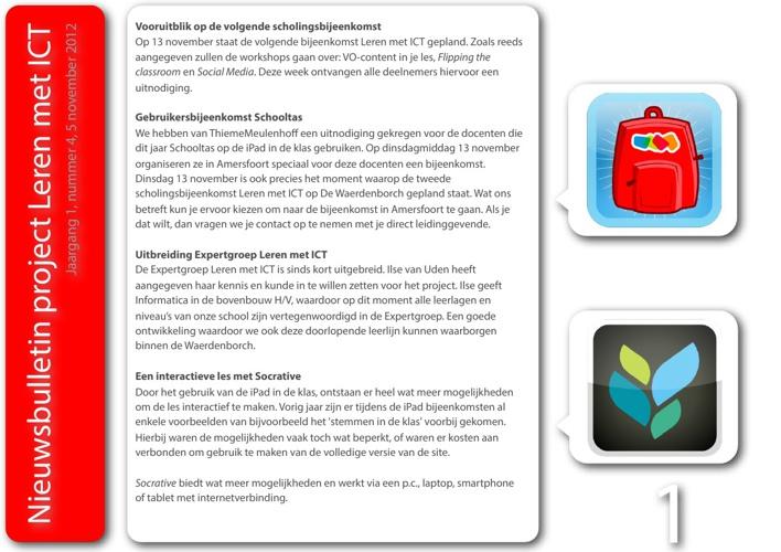 Nieuwsbulletin Leren met ICT, jaargang 1, nummer 4