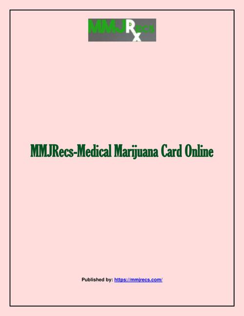 MMJRecs-Medical Marijuana Card Online