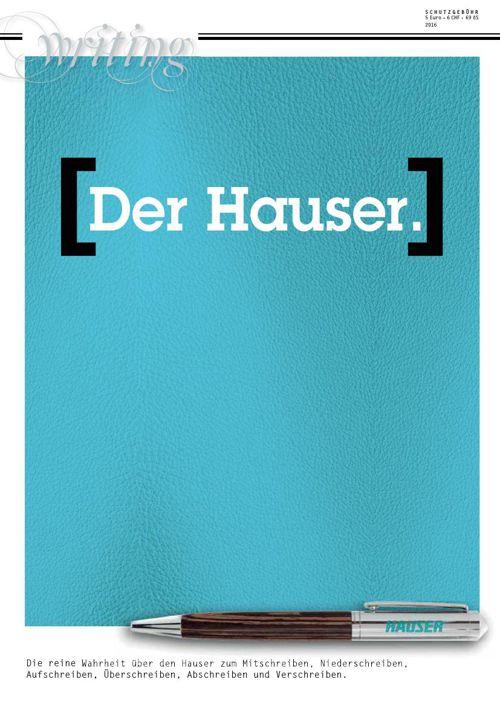 [Der Hauser.] Katalog 2016