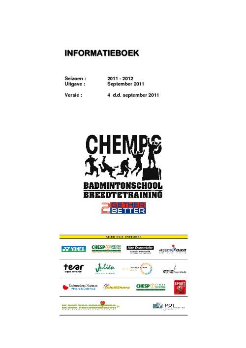 CHEMPSbadmintontraining infoboek