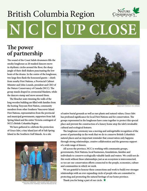 NCC Up Close - BC Region