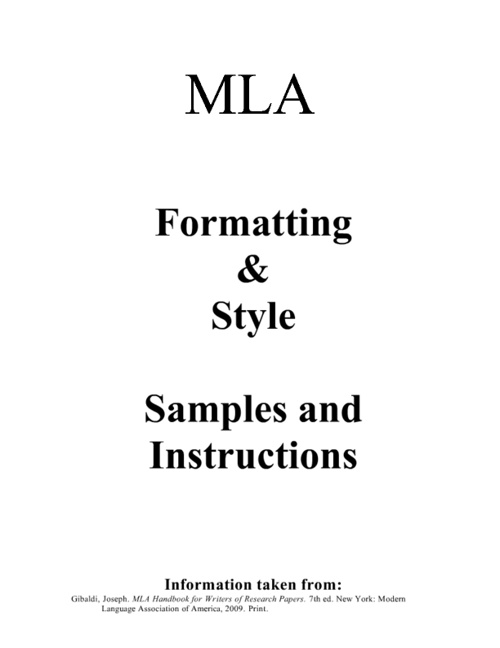 MLA Research Guide