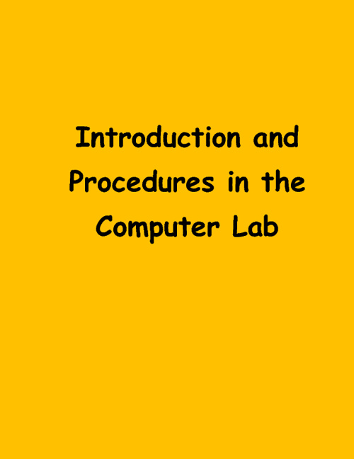 Copy of GENERAL LAB PROCEDURES