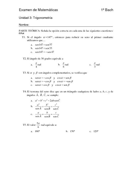 Examen resuelto de la unidad 3