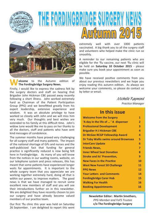 Fordingbridge Surgery News Autumn 2015