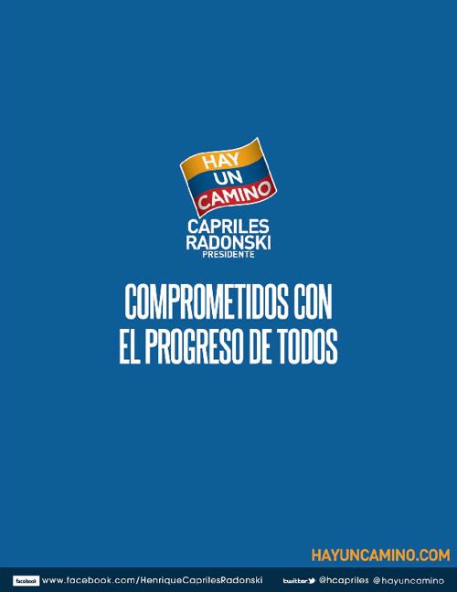 PLAN DE GOBIERNO DE HERIQUE CAPRILES RADONSKI. (I)