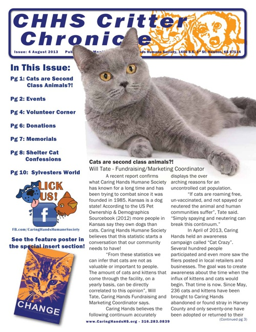 August 2013 Critter Chronicle